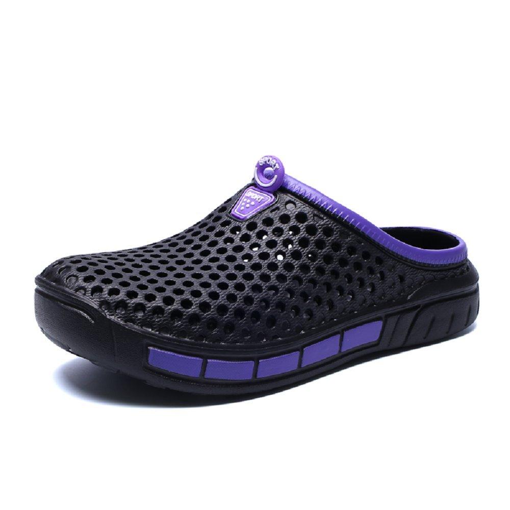 Homme Femme Sabots Plastique Douche, Plage Pantoufles Piscine Été Hopital Jardin Plate Chausson Sport Legere Confort Sandales Noir Gris 36-45 201902