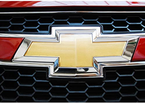 Gold Front Grille Badge Bumper Logo Emblem fit for Chevy 11-14 Cruze