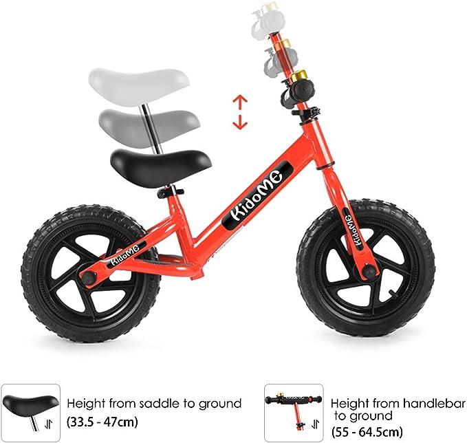 KidoMe 12 Bici sin Pedales Color Rojo Bicicleta de Blalance ...