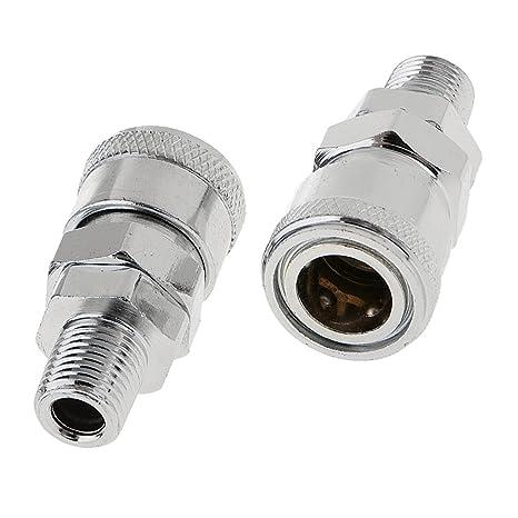 2x Acoplador Acoplamiento Manguera Rápida Línea de Aire Conector Enganche Compresor SM20