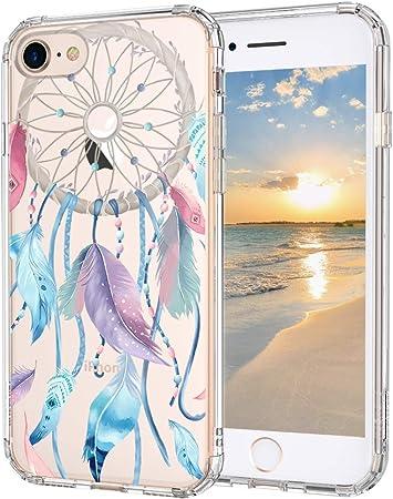 MOSNOVO Cover iPhone SE 2020/iPhone 8/iPhone 7, Cacciatore di Sogni Trasparente con Disegni TPU Bumper con Protettiva Custodia per iPhone 7/iPhone ...