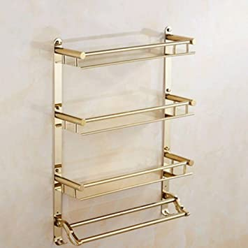 YYF Handtuchhalter European Golden Badezimmer Regal Handtuch Rack ...