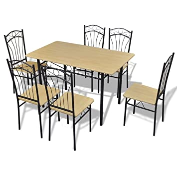 Anself - Juego De Muebles De Mesa Y 6 Sillas para Comedor ...