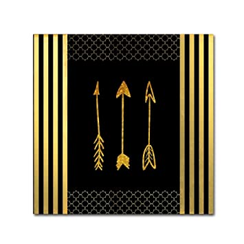 Amazoncom Black Gold Ornate Frame Feathered Fashion Arrow By