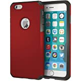 IMPACTSTRONG iPhone 6 / 6s Case, Heavy Duty Dual Layer Protection Cover Heavy Duty Case for Apple iPhone 6/6 (Deep Red)