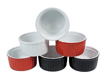 6 kleine Keramik Auflaufformen für Creme Brulee oder Ragout fin Ø ... | {Auflaufformen 92}