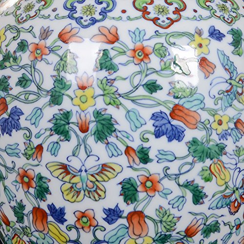 Chinese Porcelain Vase Flower Home Office Decor Hand Made and Hand Painted Porcelain ( Height: 14 inches ) by All Décor (Image #3)