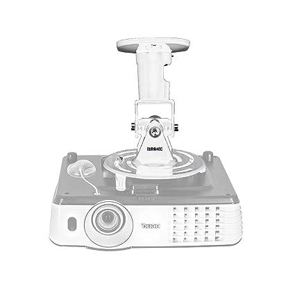 Duronic PB07XB Soporte para Proyector de Techo y Pared - Universal y Articulado - Carga Máx 10 kg - Color Blanco - Cine en Casa