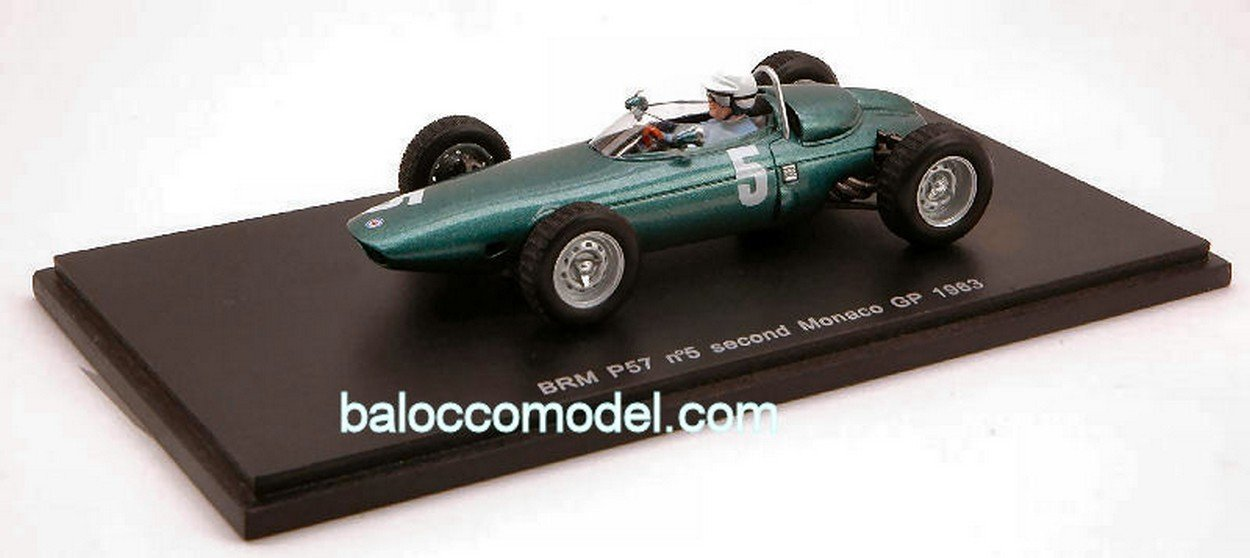 NEWES Spark Model S1629 BRM R.GINTHER Monaco GP 1963 1:43 MODELLINO Die Cast Model