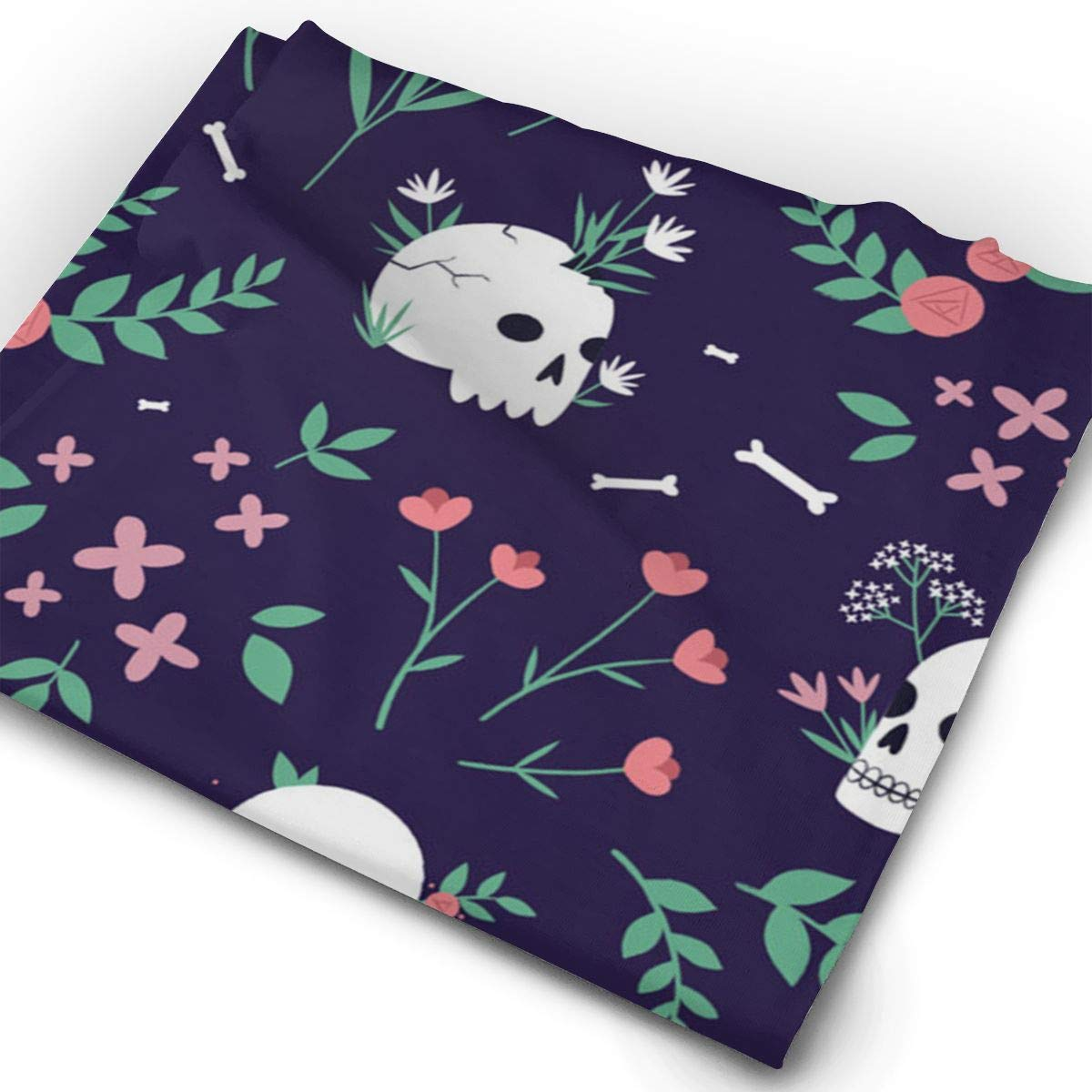 Skull Floral Unisex Fashion Quick-Drying Microfiber Headdress Outdoor Magic Scarf Neck Neck Scarf Hooded Scarf Super Soft Handle