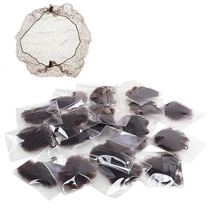 FJSM 20pcs Filet Chignon Filet Cheveux Élastique Invisible pour la  Protection Perruque et Chignon Danse Classique