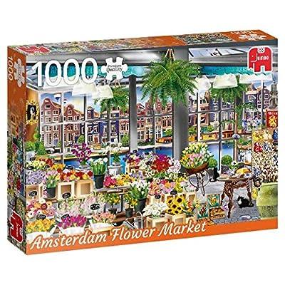 Premium Collection 18810 Amsterdam Flower Market Puzzle Da 1000 Pezzi Multicolore