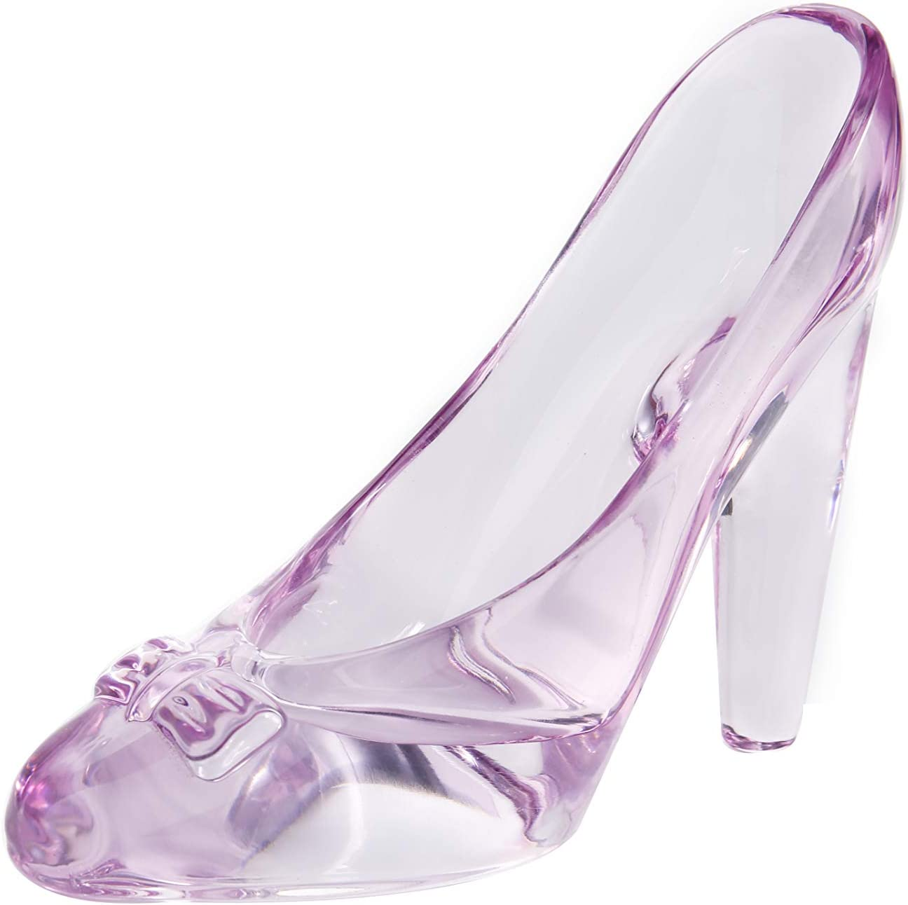 N / A Colorful Crystal Shoes, Can Be Used As a Desk Ornaments or a Gift to Friends,1PCS,L5.3''W2.6''H4.5'', Purple