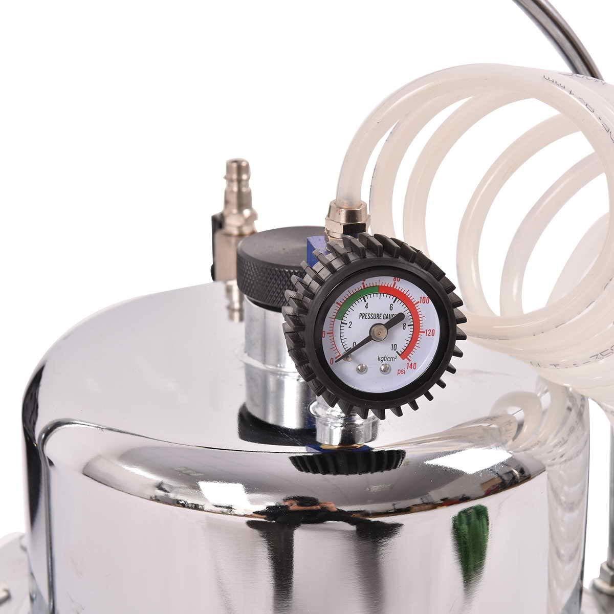 Goplus Pneumatic Air Pressure Brake Bleeding Kit Garage Workshop Mechanics Brake Oil and Fluid Extractor Bleeder Tool w/Case (Red) by Goplus (Image #4)