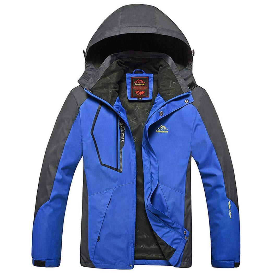 Bleu MultiCouleure 8XL cokil Manteau Coupe-Vent à Capuchon imperméable décontracté de Veste de Ski imperméable de Montagne de Patchwork d'hommes Vestes de Sport