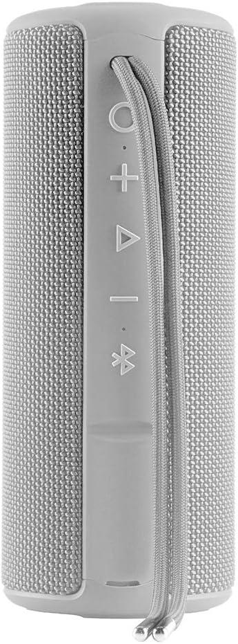 Vieta Pro Goody - Altavoz inalámbrico (True Wireless Bluetooth, Radio FM, Reproductor USB, auxiliar, micrófono integrado, resistencia al agua IPX6, batería de 12 horas) gris