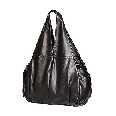 9db57b2c44 Pu Washed Handbags Women Shoulder Bags Hobos Handbag For Woman Soft Messenger  Satchel Bags