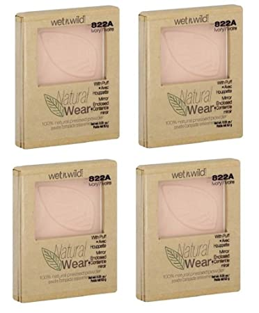 Wet n Wild Natural Wear Pressed Powder, 100% Natural, Ivory 822A