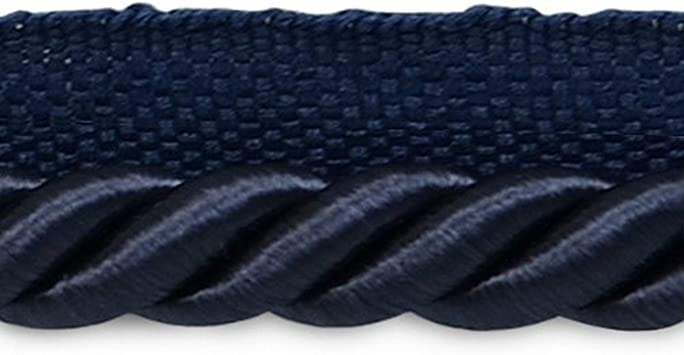 D/ÉCOPRO Large 3//8 inch Light Blue Basic Trim Cord with Sewing Lip N14 Sold by The Yard Style# 0038S Color: Artic Blue
