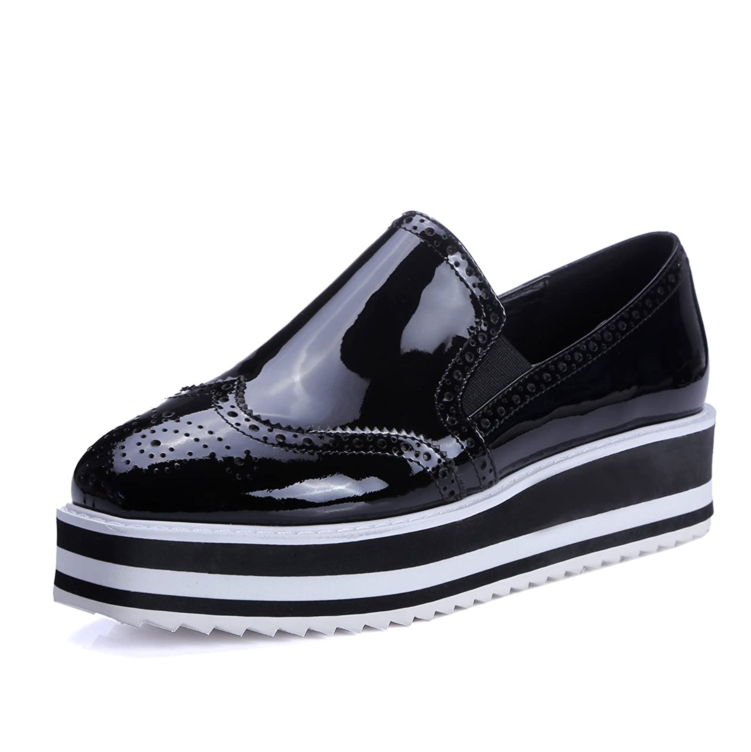 MINIVOG Platform Wingtips Brogue Loafer Shoes
