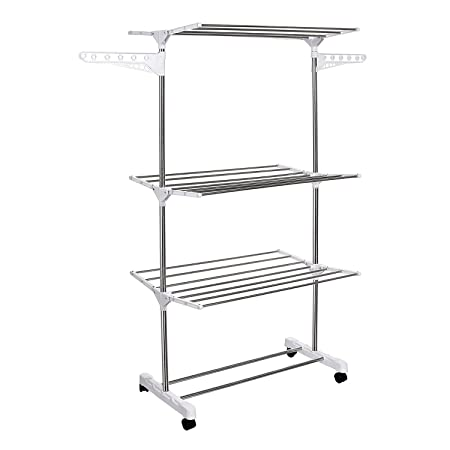 Cosway Foldable Stainless Steel Clothes Drying Rack Compact Laundry