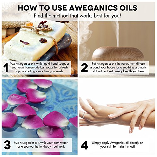 Aweganics Pure Eucalyptus Oil USDA Organic Essential Oils, 100% Pure Natural Premium Therapeutic Grade, Best Aromatherapy Scented-Oils for Diffuser, Home, Office, Personal Use - 1 OZ - MSRP $19.99 by AWEGANICS (Image #5)