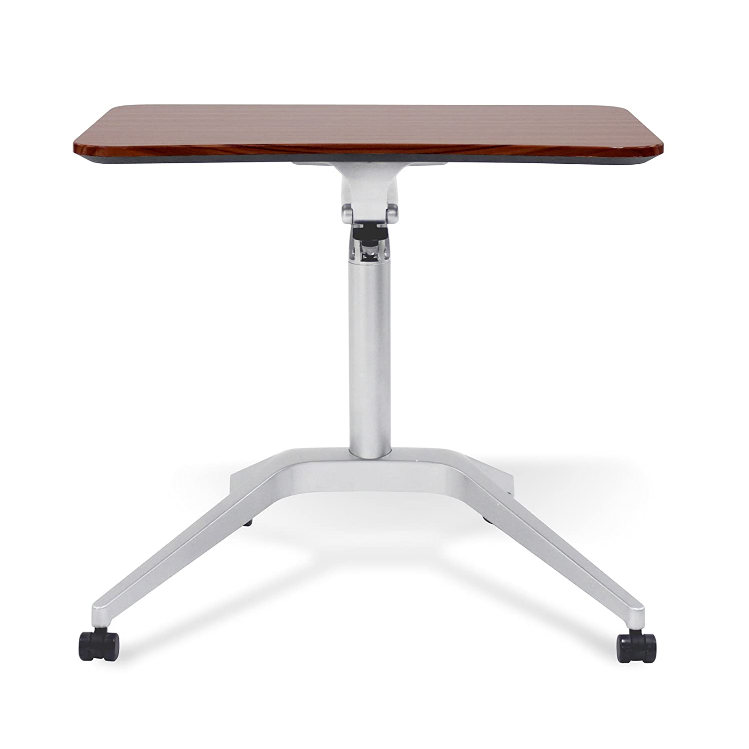 with White Top Jesper Office Unique Furniture 201-WH Workpad Height Adjustable Laptop Cart Mobile Desk