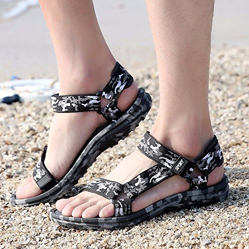 Sommer die neuen Männer Schuhe Trend Outdoor Beach Sandals Open Toe Rome Schuh Männer Non-Slip leisure Sandalen, Camouflage, US = 9, UK = 8.5, EU = 42 2/3, CN = 44