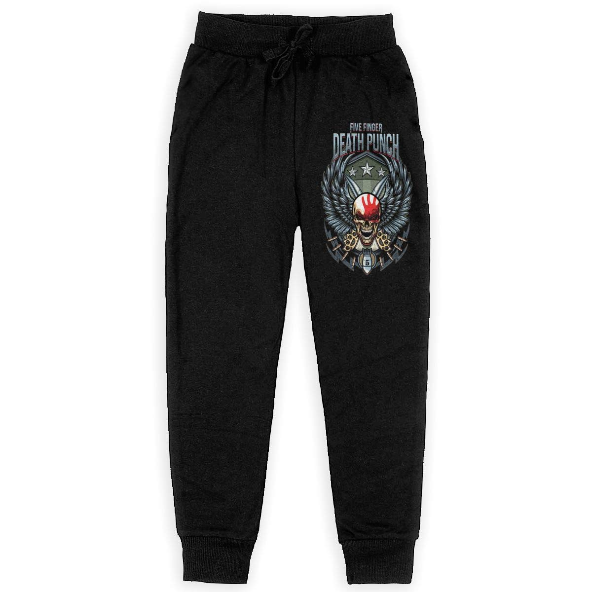Tangzhikai Unisex Teens Five Finger Death Punch Fashionable Music Band Fans Daily Sweatpants for Boys Gift with Pockets