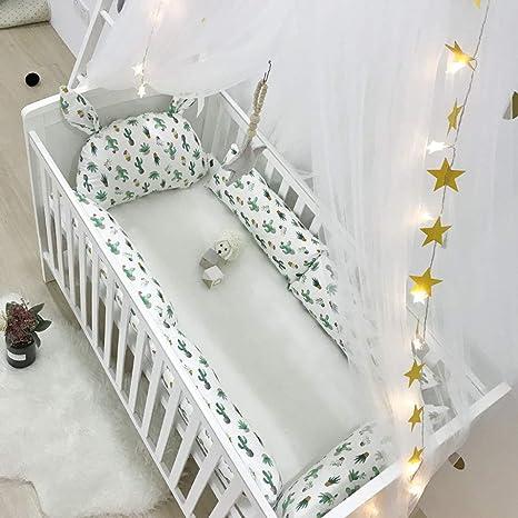 Amazon.com: Bumper para cuna de bebé - Protección envolvente ...