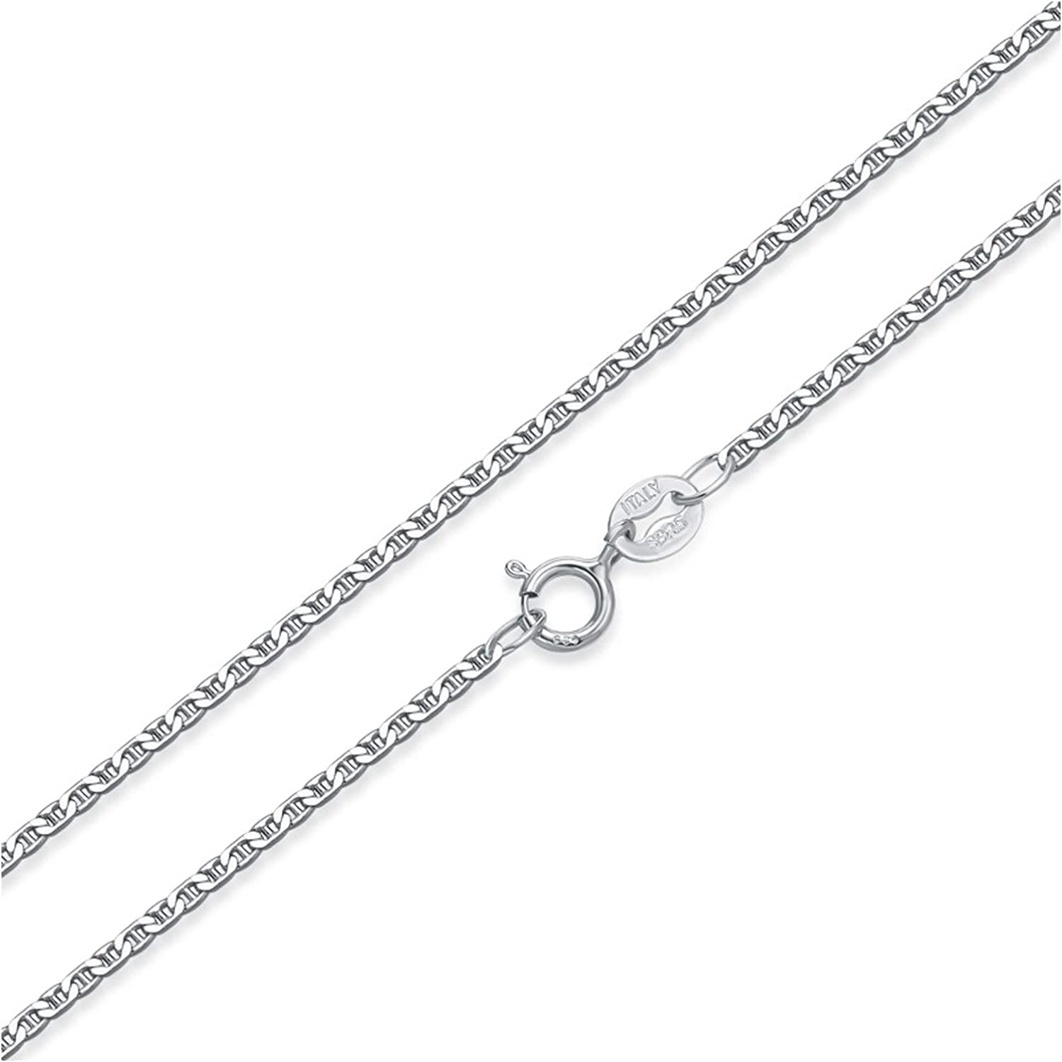 Made in Italy - Sterling Silver TM Necklace, Anklet, Bracelet Rope Chain