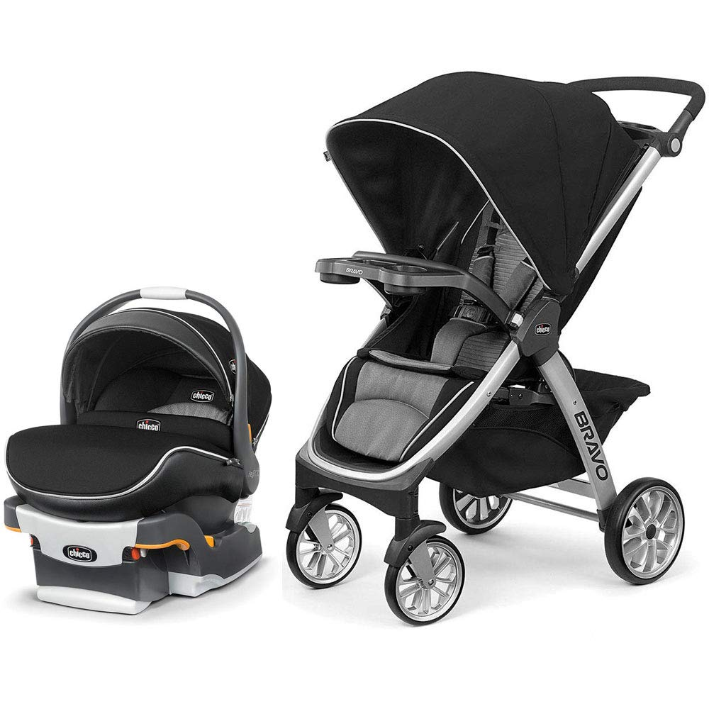 Chicco Bravo Air Quick-Fold Stroller and KeyFit 30 Zip Air Car Seat Travel System - Q Collection by Chicco