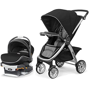 Chicco Bravo Air Quick Fold Stroller And KeyFit 30 Zip Car Seat Travel System