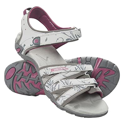 Mountain Warehouse Santorini Womens Sandals - Adjustable Straps Ladies  Shoes, Cushioned Insole Beach Flip Flops