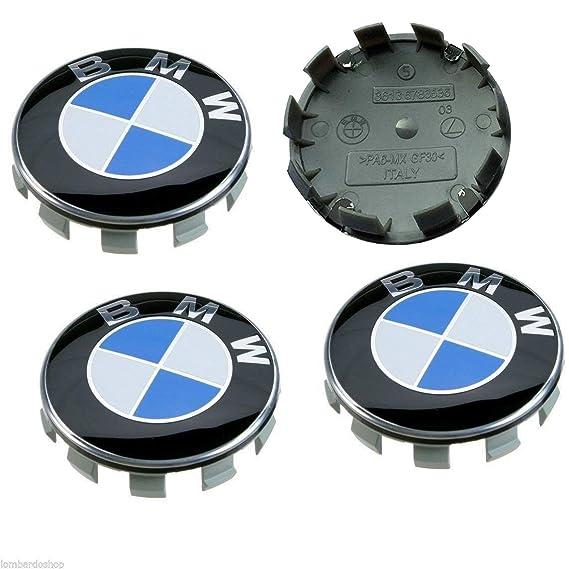 Sinbow 4 x Nuevo 68 mm Azul Blanco Logo Insignia Emblema Rueda Centro tapacubos Tapas Serie Encajar BMW: Amazon.es: Coche y moto