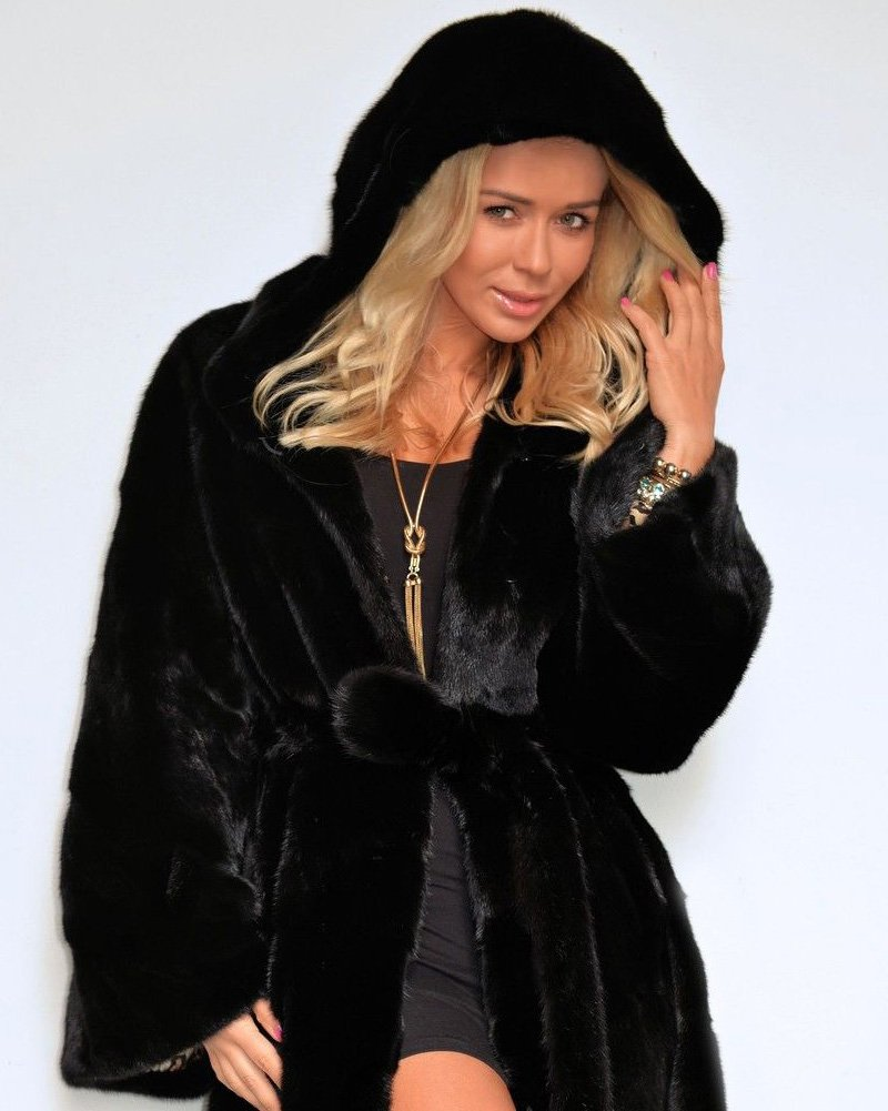 Aofur Women's Warm Winter Faux Fur Hooded Parka Long Coat Jacket Top Outwear New Fashion Thick Parka Overcoat by Aofur (Image #6)