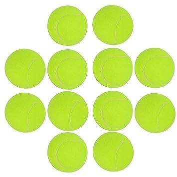 Pelotas de tenis, foxom Pack de 12 Durable pelota de tenis con bolsa de malla - ideal para la diversión tenis - niños - perros: Amazon.es: Deportes y aire ...