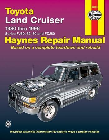 Amazon Com Haynes 92056 Repair Manual For Toyota Land Cruiser 1980 1996 Automotive