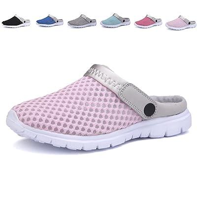 APTESOL Couple Quick-dry Garden Clog Shoes Lightweight Walking Sandal Slippers