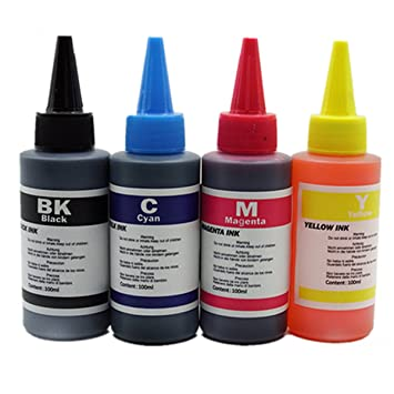 Tinta Tintada de 4 Colores para Epson 100 ML, Kit de Tinta ...