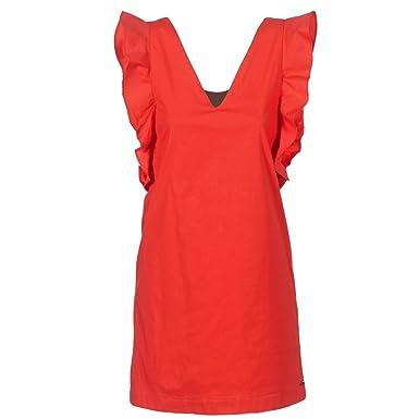 Pepe Jeans Kleid Frauen Edurne Rot Amazon De Bekleidung