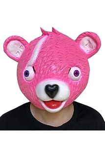 Pink Miminuo Novedad Juguete de la Novedad de Halloween Disfraz de Juego de Fiesta L/átex Animal M/áscara de la Cabeza Completa Acurrucamiento L/íder de Equipo Bear M/áscara de Juego