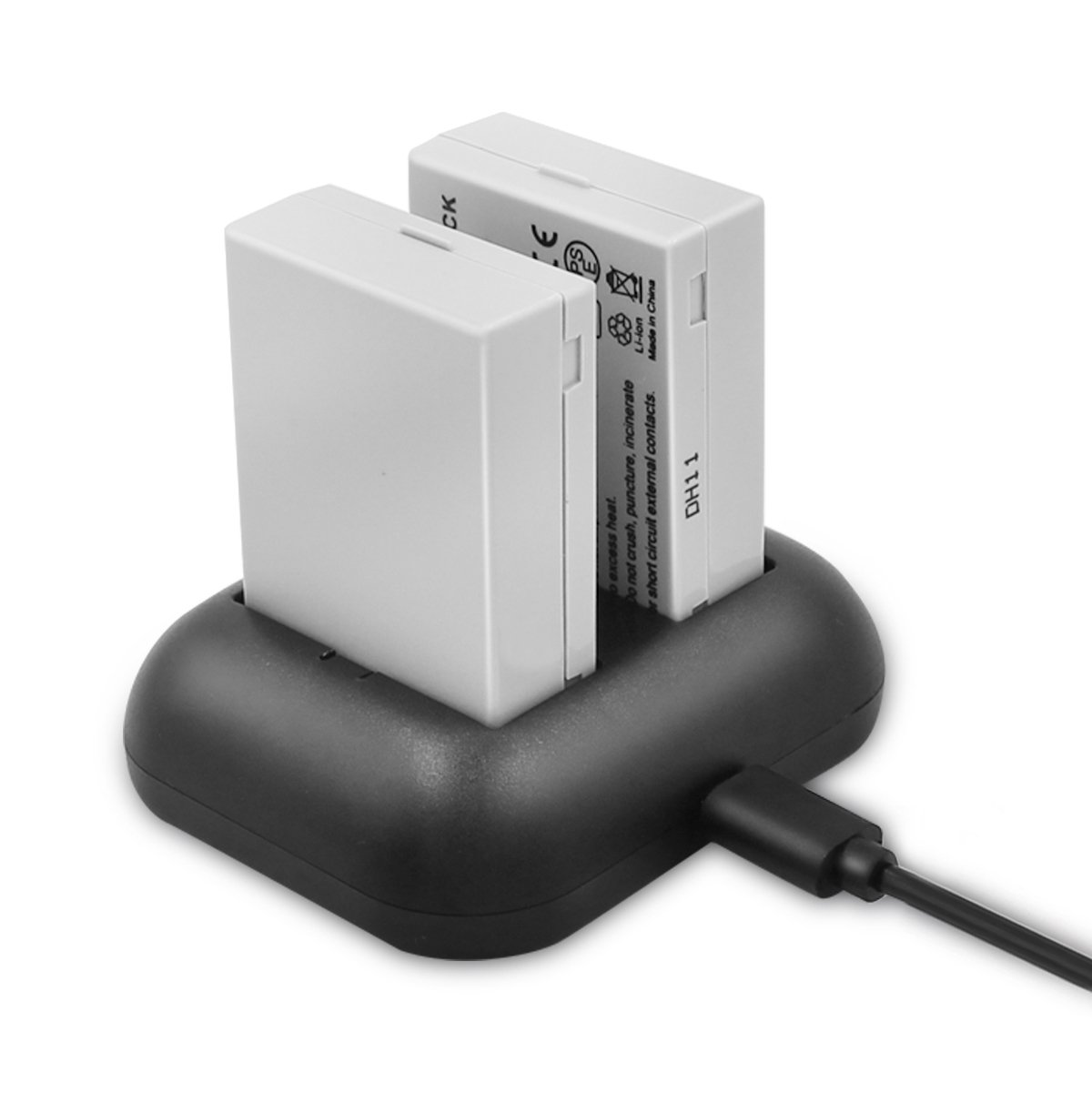 ENEGON Batería de Repuesto (Paquete de 2) y Cargador rápido rápido para Canon LP-E8 y Canon EOS Rebel T2i, T3i, T4i, T5i, EOS 550D, 600D, 650D, 700D, ...