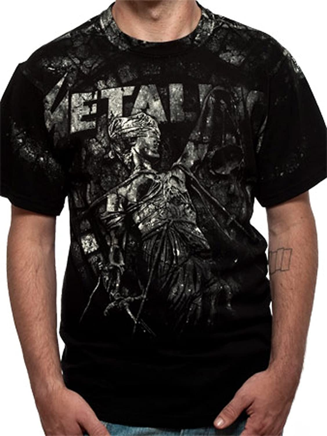 Official Metallica - Stoned Justice All Over - Mens T Shirt