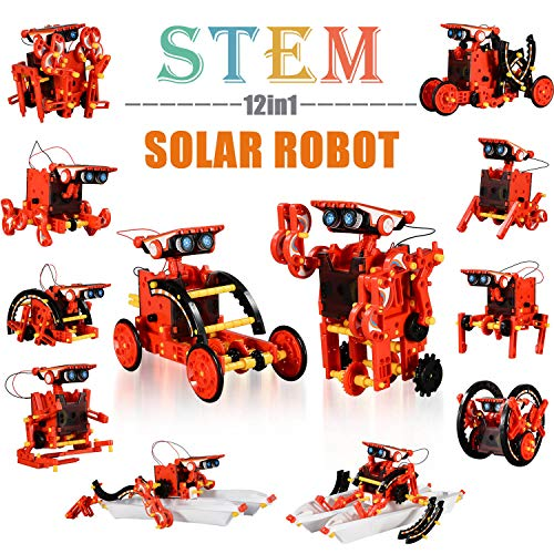 Education STEM 12-in-1 Solar Robot Kit Toys, DIY Learning Building Science Experiment Kit, Stem Projects for Kids Ages 8…