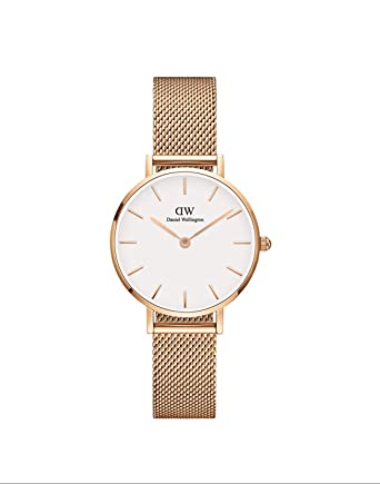 35ffa52a5040 Amazon.com  Daniel Wellington Classic Petite Melrose in White 28mm ...