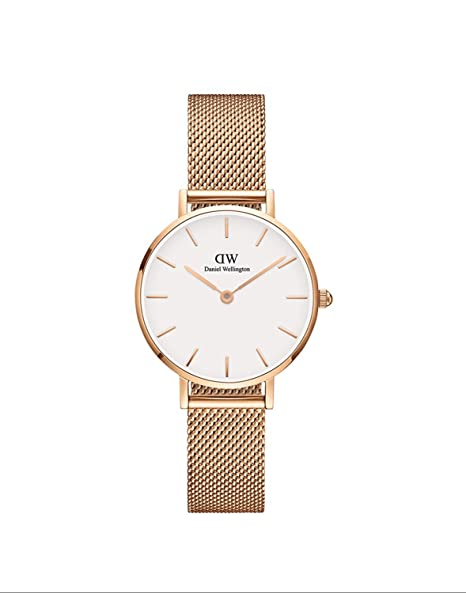 bf370ba807414b Amazon.com: Daniel Wellington Classic Petite Melrose in White 28mm: Watches