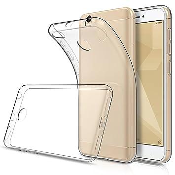 Simpeak Funda Compatible Xiaomi Redmi 4X, Fundas Transparente Xiaomi Redmi 4X Carcasa Xiaomi Redmi 4X Funda (5,0 Pulgadas) Silicona TPU Case