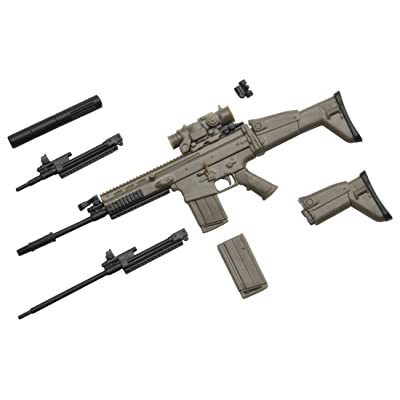 Tomytec Little Armory LA003: SCAR-H Type Plastic Model Kit: Toys & Games