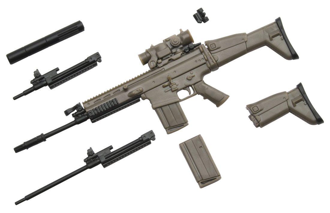 amazon com tomytec little armory la003 scar h type plastic model